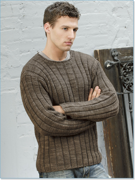 Blue Sky Fibers Patterns Mens Ribbed Sweater At Eateepit